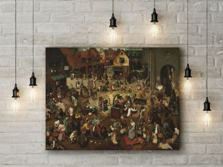 Pieter Bruegel: The Fight Between Carnival and Lent. Fine Art Canvas.